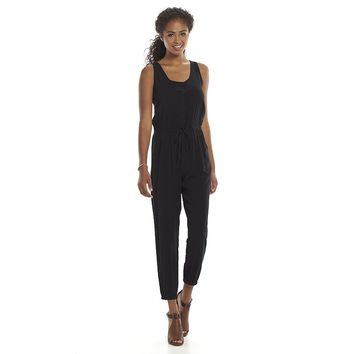 Mudd Button Front Woven Juniors' Jumpsuit, Size: