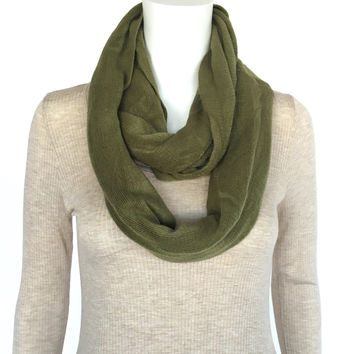 Signature Soft Infinity Scarf In Olive