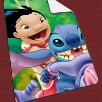 "Lilo and Stitch 4 Kids Blanket Game Blanket All Character Popular Game, Cute and Awesome Blanket for your bedding, Blanket fleece ""NP"""