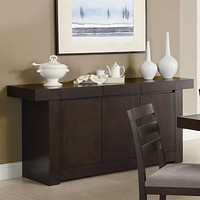 Modern Dining Room Sideboard Server Table Cabinet in Cappuccino