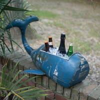 Reclaimed Metal Whale Coolor