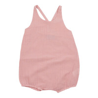 KIPP Baby-Girls' Blush Stripe Romper