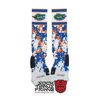Custom Nike Elite Socks - Florida Gators Custom Nike Elites - University of Florida, Custom Elites, Florida Socks, Nike Socks