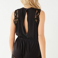 Out From Under Nadia Lace Trim Cheeky Romper | Urban Outfitters Canada