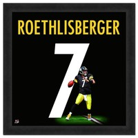 Pittsburgh Steelers Ben Roethlisberger Framed Jersey Photo (Stl Team)