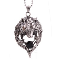 Wolf Necklace in Stainless Steel