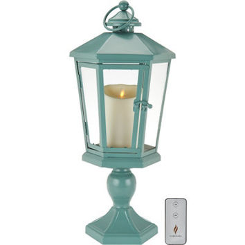 "Luminara 17"" Windsor Lantern with Pedestal & Flameless Candle"