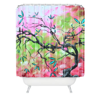 Madart Inc. Sweet Sounds Of Spring Shower Curtain