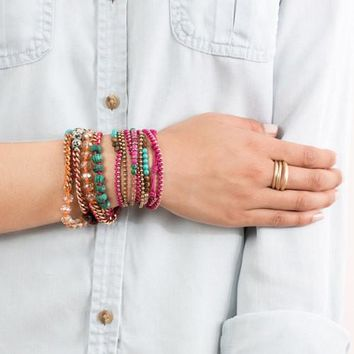 Bead + Chain Multi-Wrap Bracelet by Chloe + Isabel
