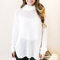 Aspen Open Knit Turtle Neck Sweater