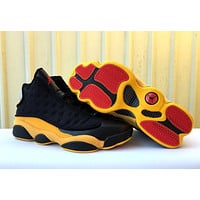 Air Jordan 13 Retro Black/Yellow Sneaker Shoes