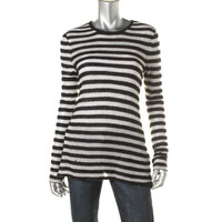 Rachel Zoe Womens Mesh Knit Pullover Sweater