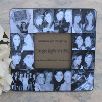 "Personalized Maid of Honor Picture Frame, Unique Sister Gift, Custom Collage Bridesmaid Frame, Bridal Shower Gift, Parent Gift, 8"" x 8"""