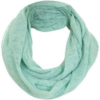 Mint Jersey Snood - Hats & Scarves - Accessories - Miss Selfridge