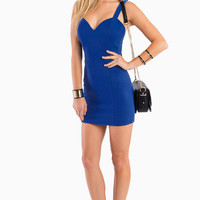 Strap Zippered Back Bodycon Dress
