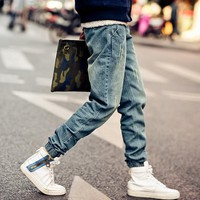 Men's Jeans Fold Fit pants Stretch Elastic Asia