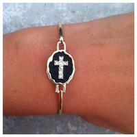 Style Girl Cross Bangle- Tanya Kara Jewelry