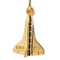 American Apparel - Gold Plated Charm - Launch The Rocket
