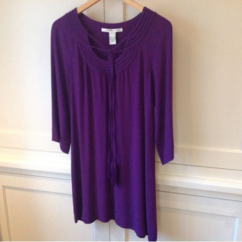 New Dvf Purple Rayon Dress (Diane von Furstenberg)