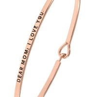 Ladies dear mom: i love you brass bangle bracelet