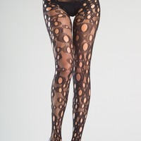 Be Wicked Crothless Holey Fishnet Tights
