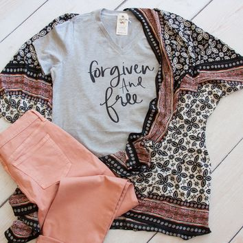 Forgiven and Free Relaxed Ladies Vneck