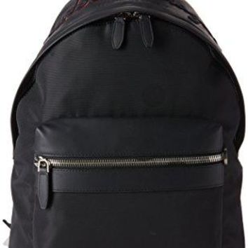 Salvatore Ferragamo Men's Embroidered Nylon Backpack
