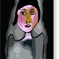 Picasso Woman 04 Canvas Print / Canvas Art by Bill Owen
