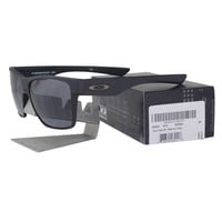 Oakley OO 9350-03 TWOFACE XL Steel Grey Frame with Grey Lens Mens Sunglasses