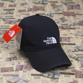 PEAPDQ7 The North Face Embroidered Black Cotton Baseball Cap Hats