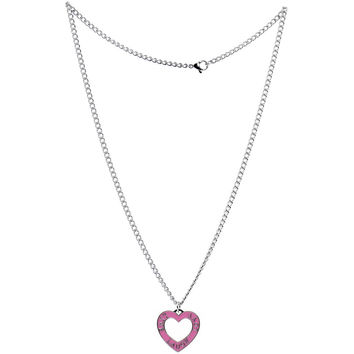 Live, Love, Laugh  Heart Necklace