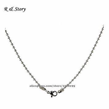 """30"""" Solid Silver Cut Ball Bead Chain with a Ring Clasp for Pendant Locket LFH_014"""