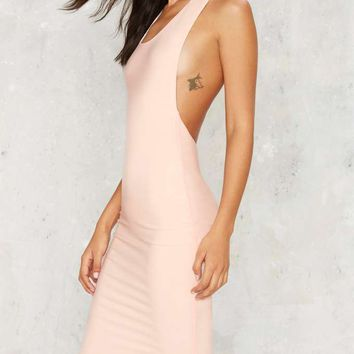 Side Swipe Right Bodycon Dress