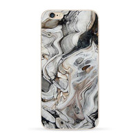 iPhone 5 5s SE Painted TPU Case Stone Marble Glacier Brick Wall Realistic Printed Soft Silicon Cover