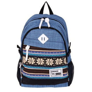 Blue Ethnic Laptop fashion bag Daypack Unique Backpack School Bookfashion bag Travel fashion bag
