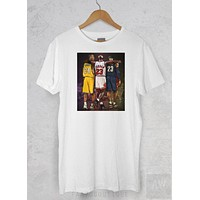 Kobe Bryant Lebron James MJ Goats Tee Basketball Unisex Graphic T Shirt