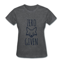 BLACK GLITZ PRINT! Zero Fox Given, Women's T-Shirt