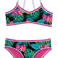 Gossip Girl Tropical Escape Two-Piece Swimsuit (Big Girls) | Nordstrom