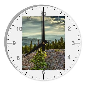 "Nature Photography - Pine Kingdom 8"" Round Wall Clock with Numbers by TooLoud"