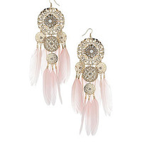 Pretty pink feather earrings - Jewelry  - Accessories  - Dorothy Perkins United States