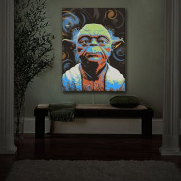 May the Force Be With You, Yoda, Nightlight, LEDs, Adult, Children, Wall Art, Home Decor