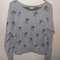 Adorable Forever 21 Grey Puppy Sweater