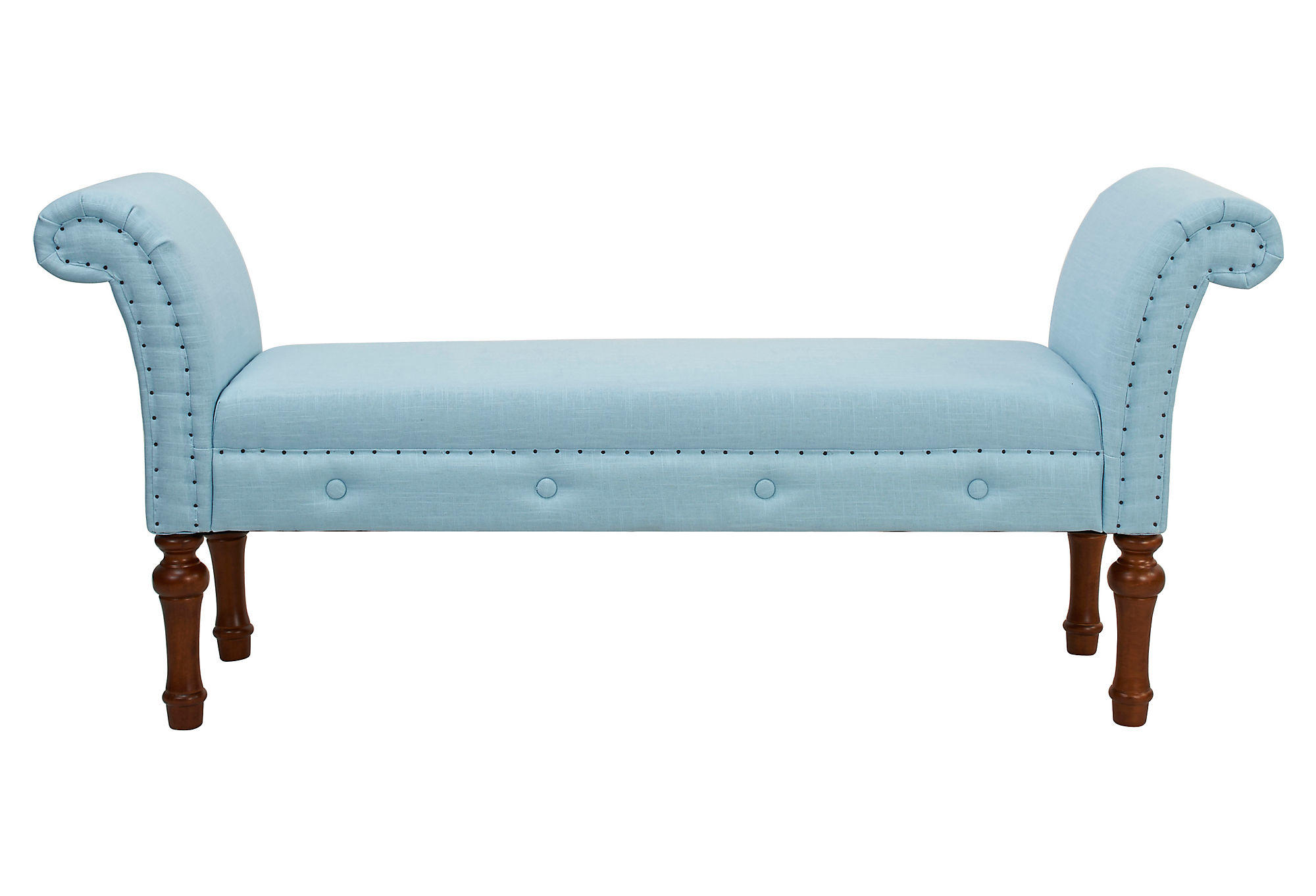 Elise Roll Arm Bench Light Blue Bedroom From One Kings Lane