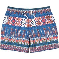 Blue ikat print short swim trunks - swim trunks - shorts - men