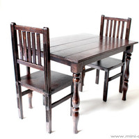 1/6 scale Table and 2 Chairs Dining Set for dolls (Blythe, Barbie, 12'' Fashion dolls, Bratz, Momoko).