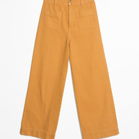 High Waisted Twill Trousers - Mustard - High Waisted Trousers - & Other Stories GB