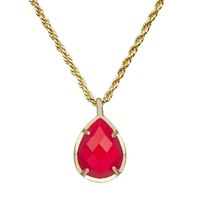 Kiri July Birthstone Necklace in Bright Red - Kendra Scott Jewelry