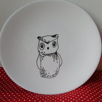 Hand drawn side plate by MrTeacup on Etsy