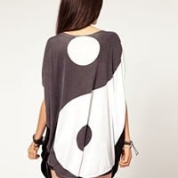 Evil Twin To My Yin Yang Oversize Tunic T-Shirt at asos.com