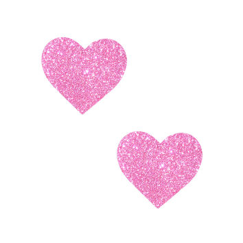 Mini Sparkle Pony Pink Glitter I Heart U BodiStix Nipple Cover 6PK